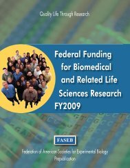 Federal Funding for Biomedical and Related Life Sciences ... - FASEB