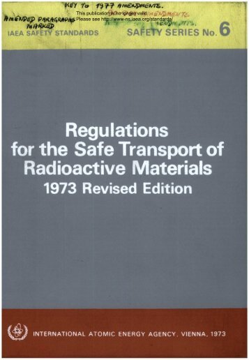 Regulations for the Safe Transport of Radioactive Materials - gnssn