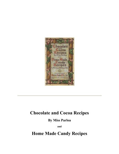 Chocolate and Cocoa Recipes Home Made ... - Yesterday Image