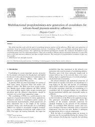 Multifunctional propyleneimines-new generation of crosslinkers for ...