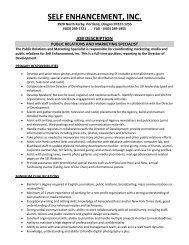 job description - Self Enhancement, Inc.