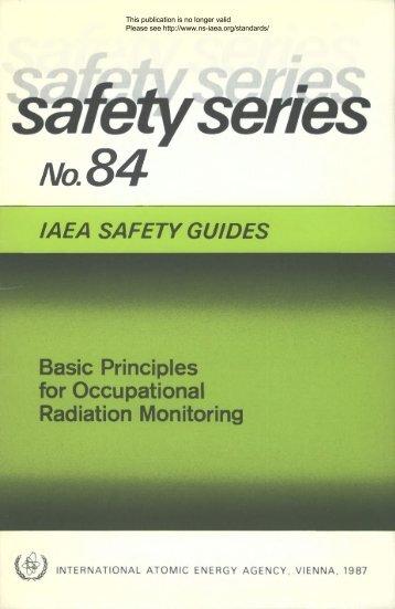 Safety_Series_084_1987 - gnssn - International Atomic Energy ...