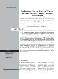 Synthesis and Characterization of Silicone Modified Acrylic Resin ...