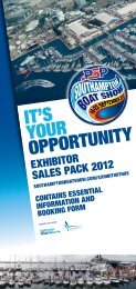 IT'S YOUR OPPORTUNITY - London Boat Show