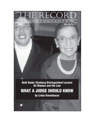 2009 Issue 1 - New York City Bar Association
