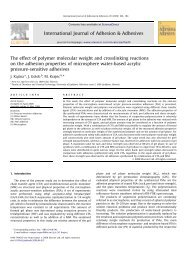 The effect of polymer molecular weight and crosslinking reactions on ...