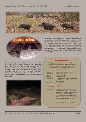 Polen geh - Jagdreisen Muraun