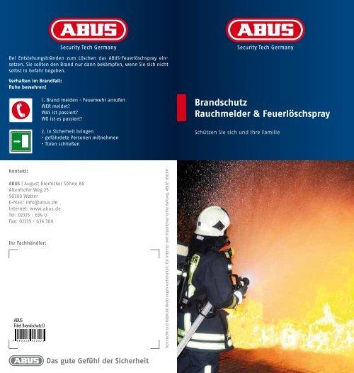 Brandschutz Rauchmelder & Feuerlöschspray - Bauen.com