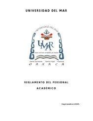 Reglamento del Personal Académico - Universidad del Mar