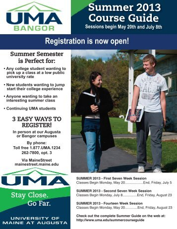 Registration is now open! - University of Maine at Augusta