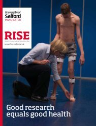 RISE: Good research equals good health - University of Salford