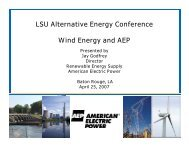 LSU Alternative Energy Conference Wind Energy and AEP
