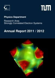 Annual Report 2011 / 2012 - E21 - Technische Universität München