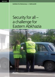 Security for all – a challenge for Eastern Abkhazia - Saferworld