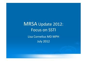 MRSA Update 2012 - Healthcare Professionals