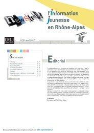 Newsletter IJ 38 - Avril 2012.pdf - centre ressources information ...