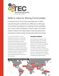 Skills to Jobs for Strong Communities - Cummins