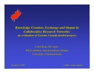 Knowledge Creation, Exchange and Output in ... - CAIRN