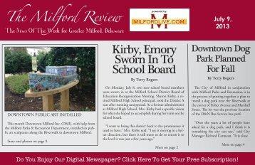 Kirby, Emory Sworn In To School Board - Milford LIVE!