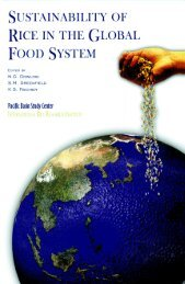 Sustainability of rice in the global food system - IRRI books