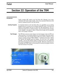 Section 22: Operation of the TRM - FadalCNC.com