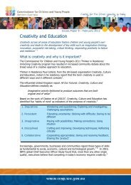 Creativity and Education - Ccyp.wa.gov.au