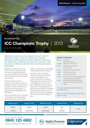 ICC Champions Trophy | 2013 - Keith Prowse