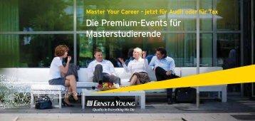 Die Premium-Events für Masterstudierende