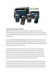 SAMSUNG ANDROID MARKET TÜRKİYE'DE! Android işle m ...