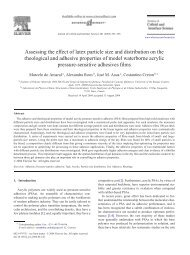 Assessing the effect of latex particle size and distribution on the ...