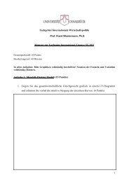 Klausur SS 11 - Internationale Wirtschaftspolitik