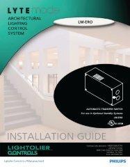 LM-ERO - Philips Lighting Controls