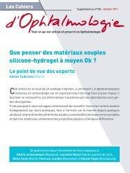 Que penser des matériaux souples silicone-hydrogel à ... - Contacto.fr