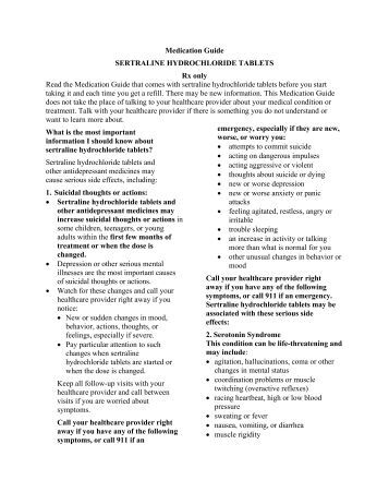Zoloft Medication Guide