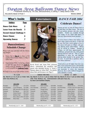 Dayton Area Ballroom Dance News - Ballroom Dance Dayton