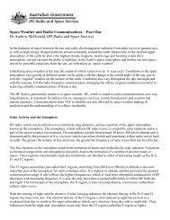 Space Weather and Radio Communications - IPS - Radio and ...