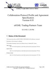 Collaboration-Protocol Profile and Agreement Specification ... - ebXML