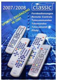Fernbedienungen Remote Controls - RTVCenter