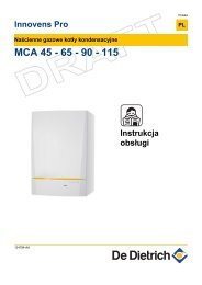 MCA 45 - 65 - 90 - 115 - De Dietrich