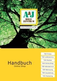 Handbuch - Online Shop