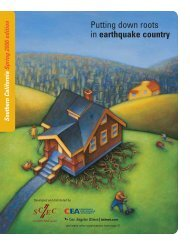 Putting down roots in earthquake country - County of San Diego