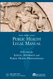 NYS Public Health Legal Manual: A Guide for Judges, Attorneys ...