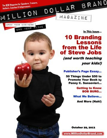 Million Dollar Brand Magazine October 29 2012