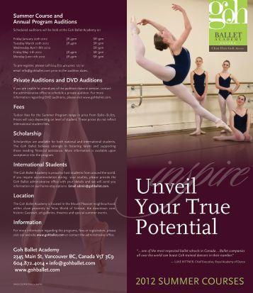 2012 Summer Courses - Goh Ballet Academy