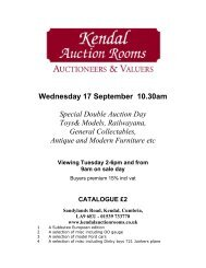 Wednesday 17 September 10.30am Special Double Auction ... - 1818