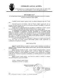 CONSILIUL LOCAL AGNITA - Reteaua Nationala de Ajutor de Stat