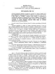 romania judetul sibiu consiliul local selimbar hotararea nr. 110