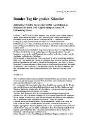 Zur deutschen Übersetzung - Uwe Appold