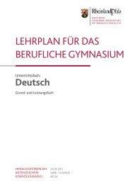 lehrplan für das berufliche gymnasium - BBS-Server Rheinland-Pfalz