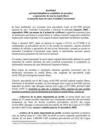 raport - Reteaua Nationala de Ajutor de Stat
